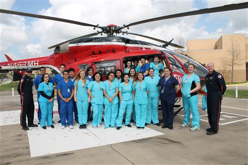 BCHS Health Tech meets with Memorial Hermann Life Flight team photo