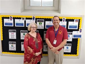 photo of Mr. Nolen and Ms. Gajewsky Maly
