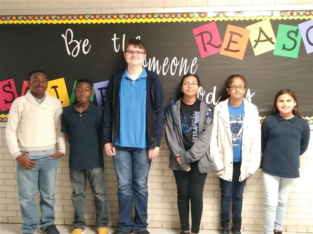 October Students of the Month - Josiah B, Malkana P, Ryan H, Cecilia C, Harima M, Ava A