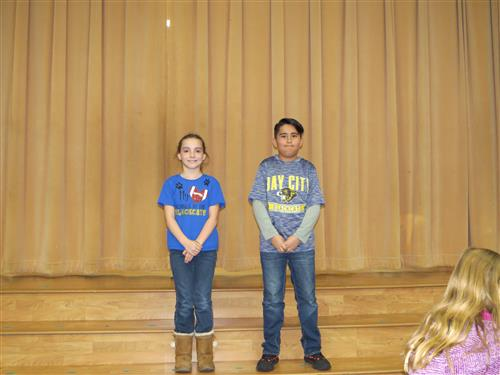 photo of 4th grade spelling participants