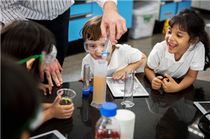 photo of kids in lab