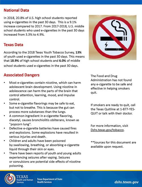 photo of page 2 of e-cigarette flyer