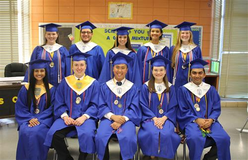photo of top ten grads 2018