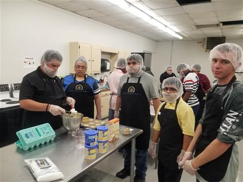 photo of Bridges students in kitchen