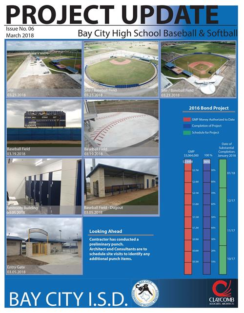 baseball and softball field bond update March 2018 photo of flyer