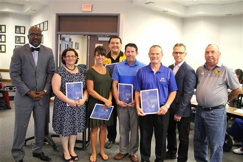 photo of businesses honored at Board Meeting June 18th