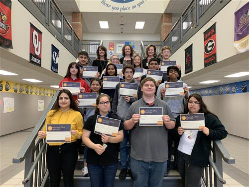 photo of BCHS MOS certification students