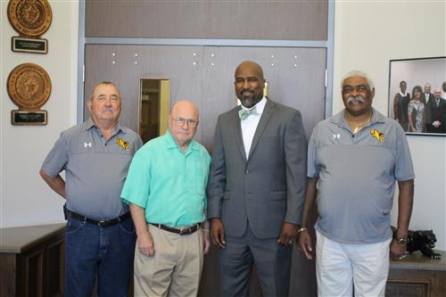 Dr. Marshall Scott III pictured with some BCISD board members