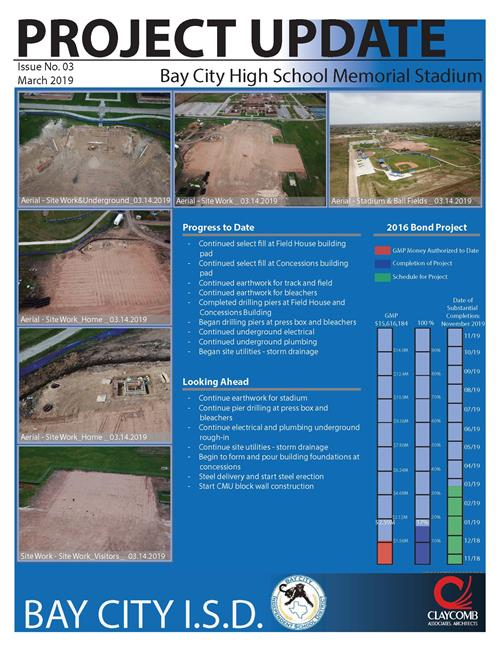 Stadium project update photo of flyer
