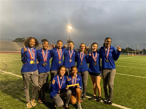 photo of Ladycats Track and Field Area Championship team