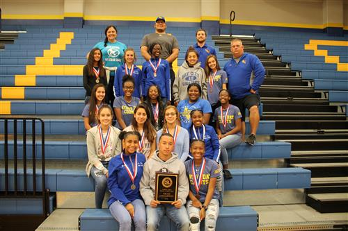 BCHS Ladycat Photo of District team and coaches