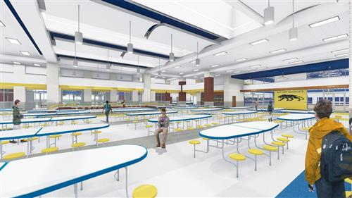 new BCJH cafeteria