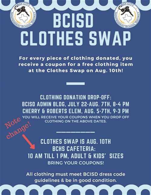 photo clothes swap flyer