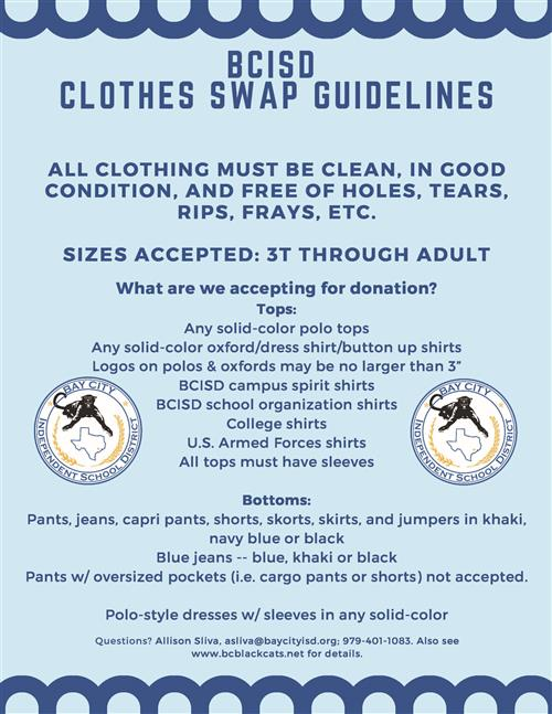 photo of clothes swap flyer