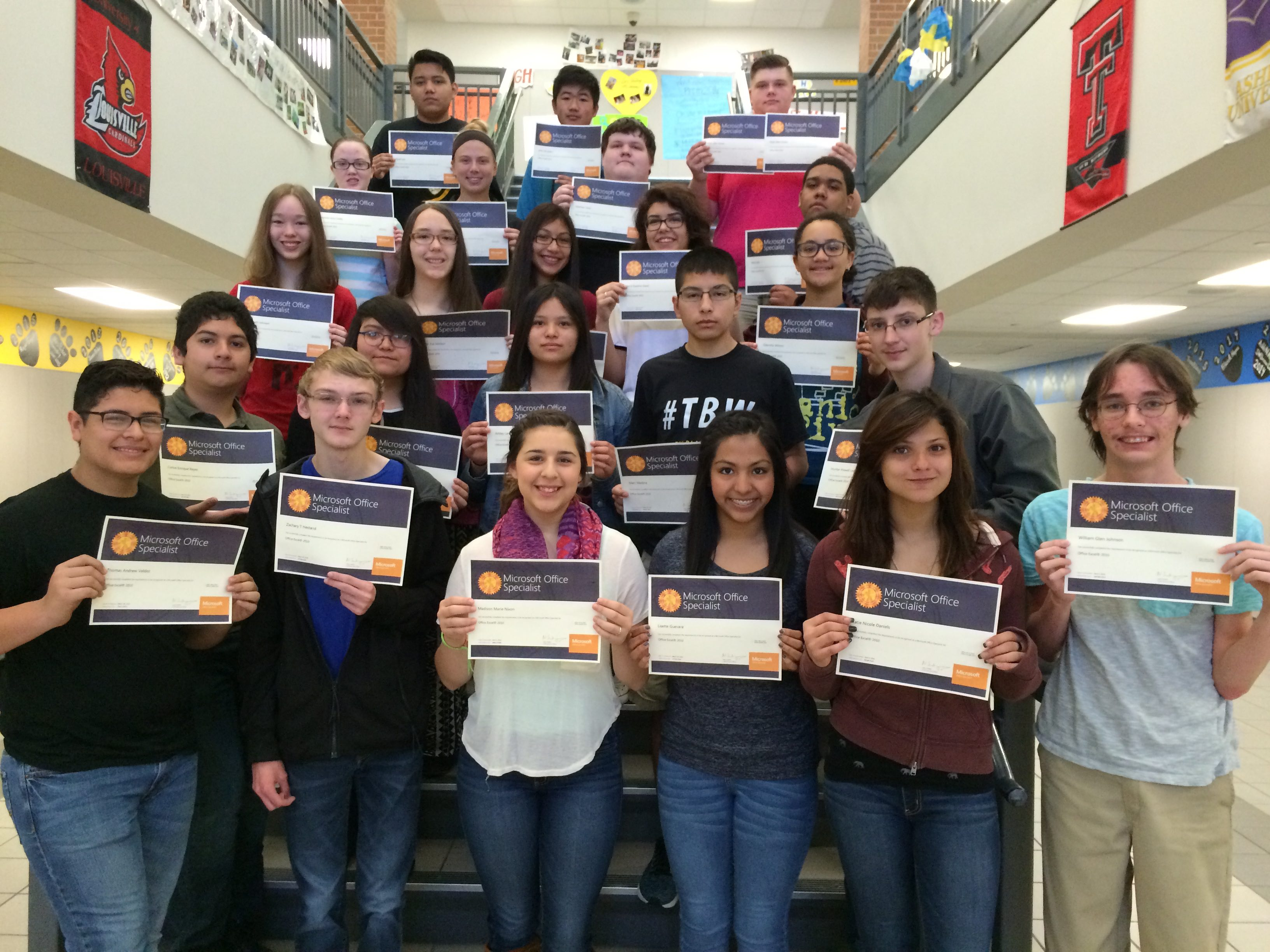 News detail page 23 more students earn microsoft office specialist certification 1betcityfo Image collections