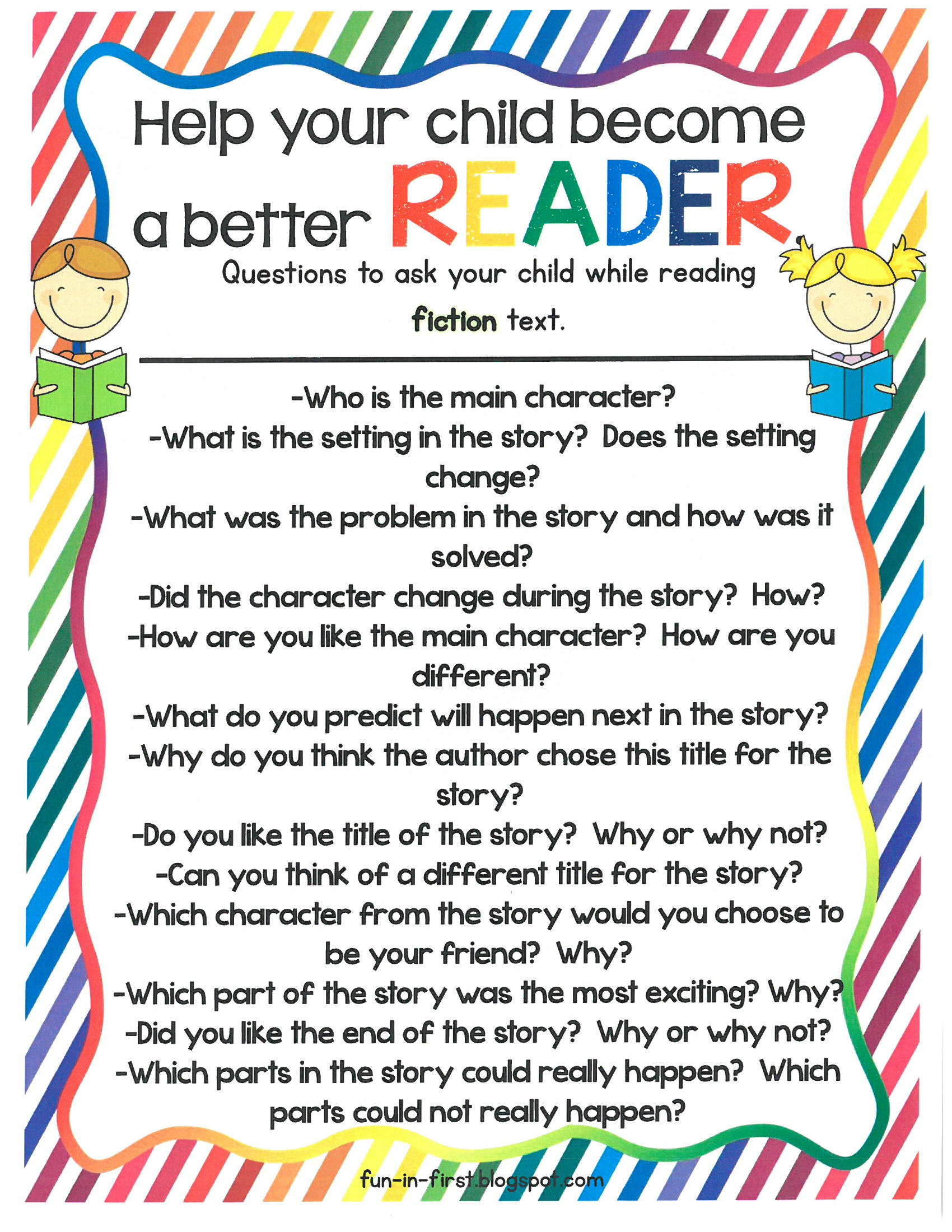 Help your child become a better reader - fiction text